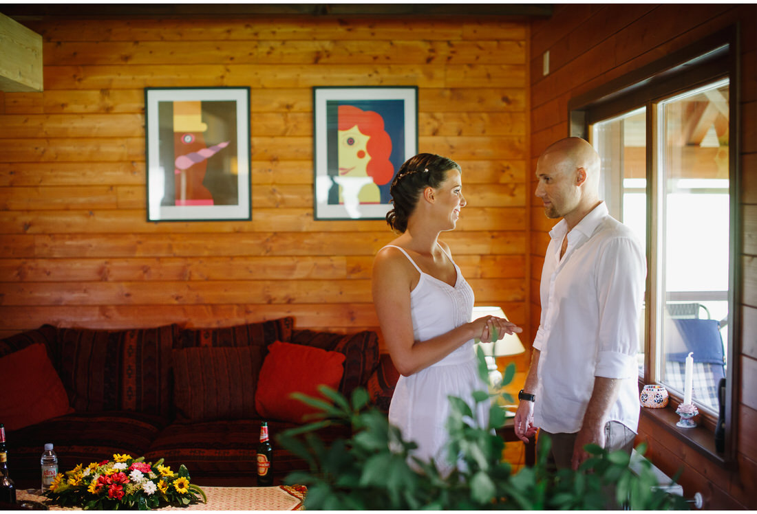 bride and groom at ecotourism japodi