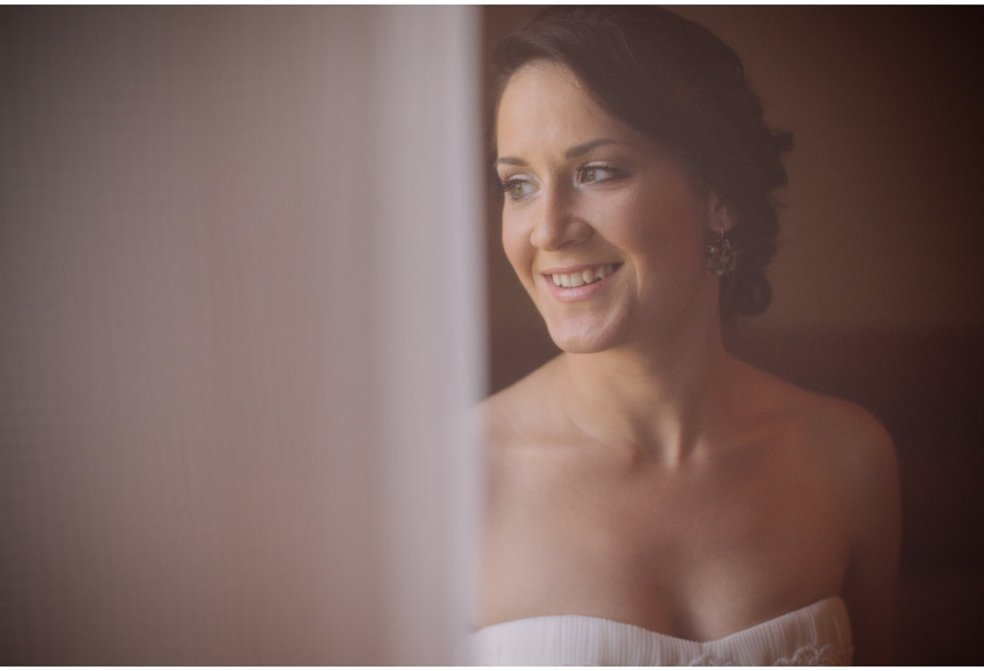 smiling bride in istria wedding