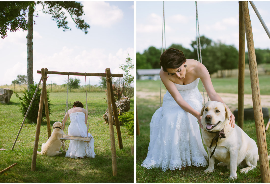 istria wedding bride with a dog