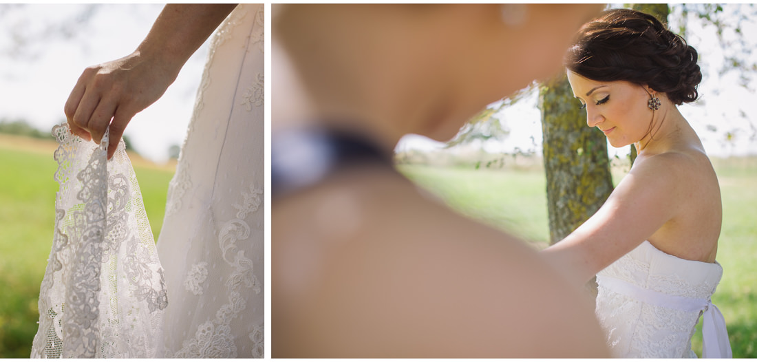 istria wedding dress details