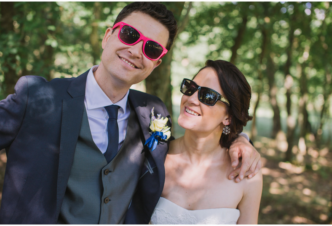 funny glasses bride and groom