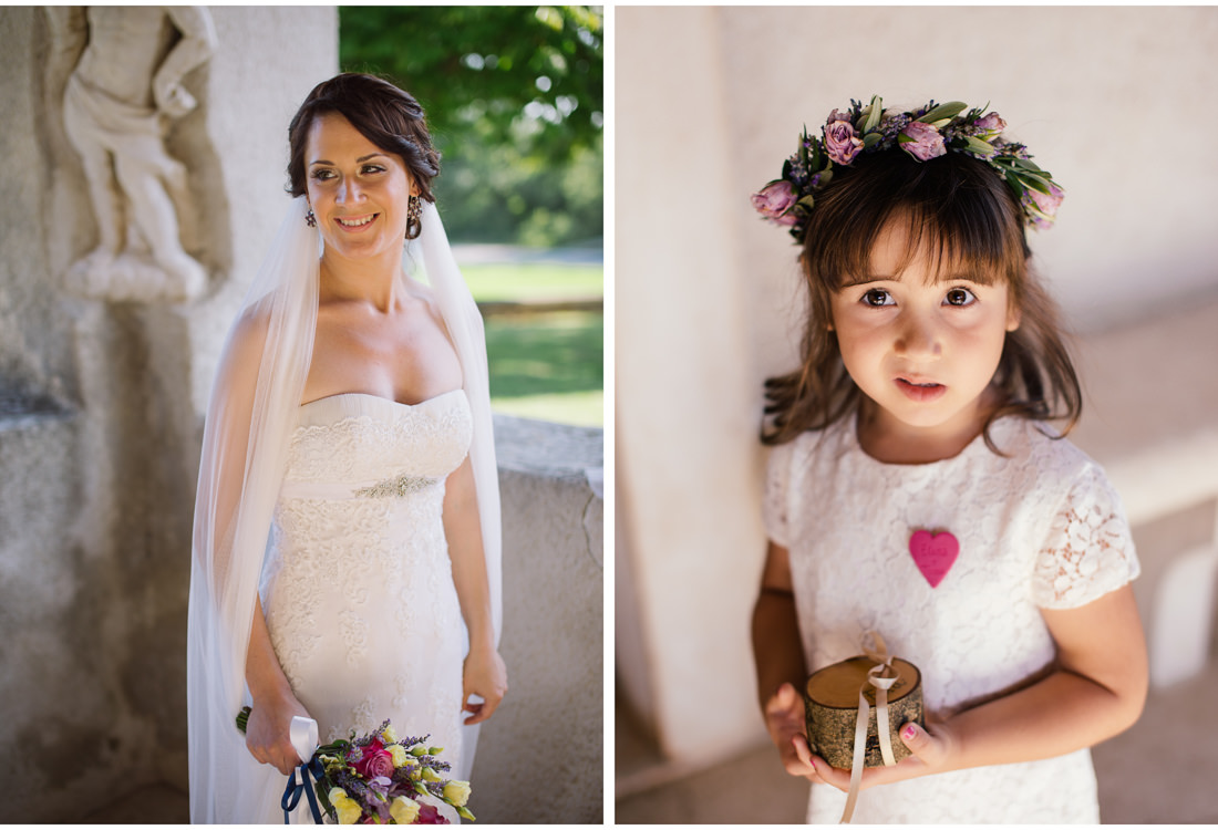 istria wedding bride and the flower girl