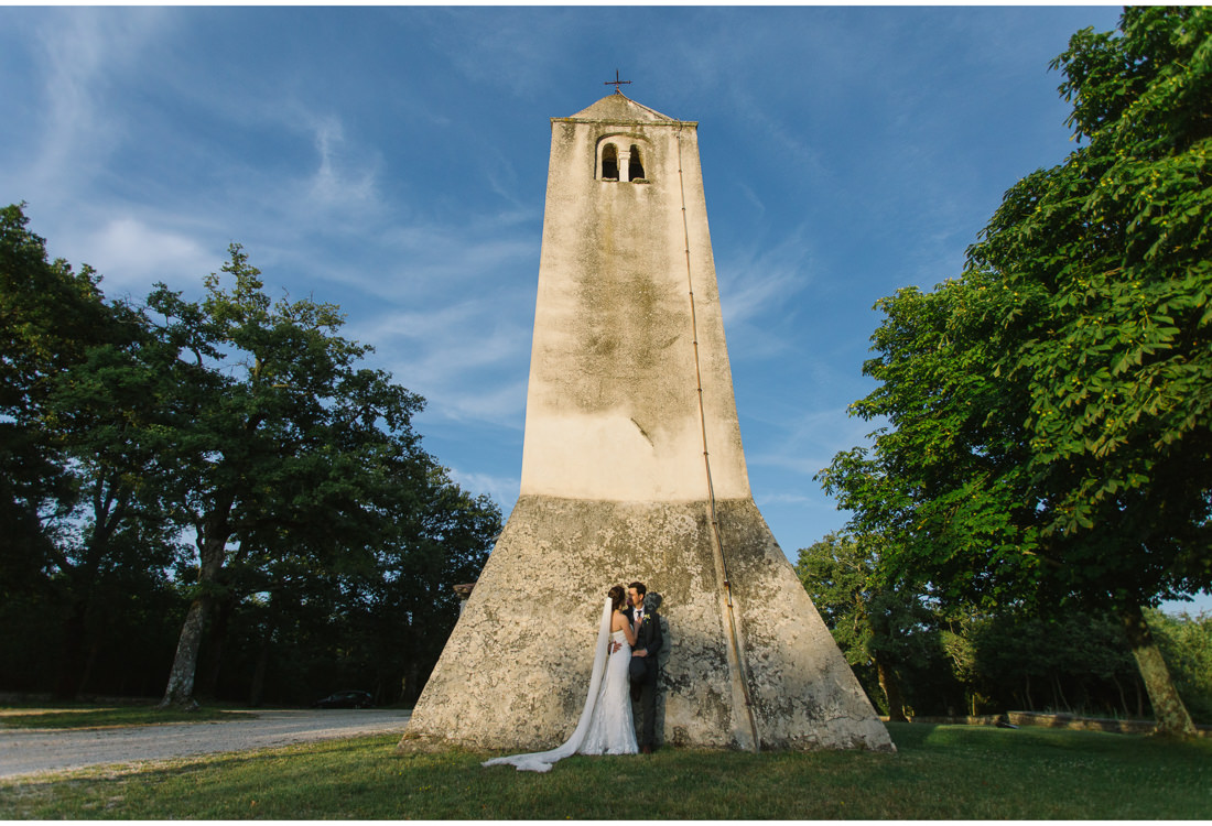 istria wedding church kiss