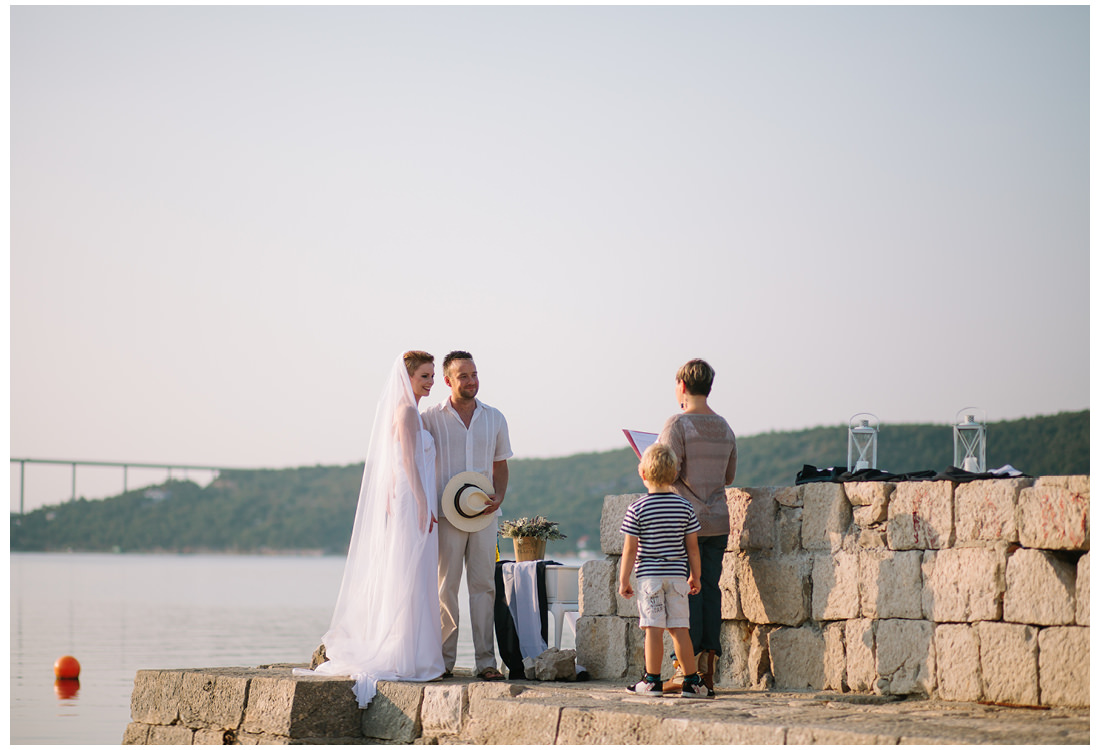 wedding by the sea on krk island