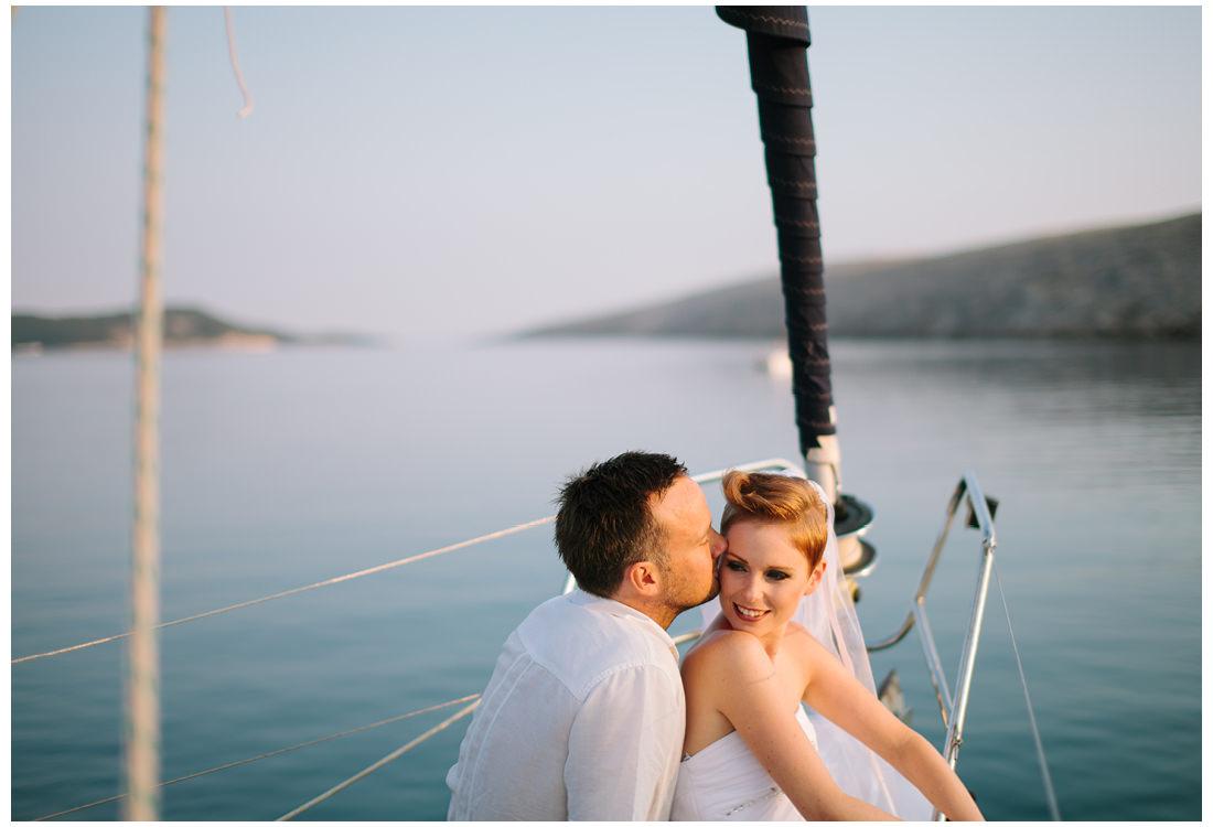 sunset boat ride on krk wedding photographer