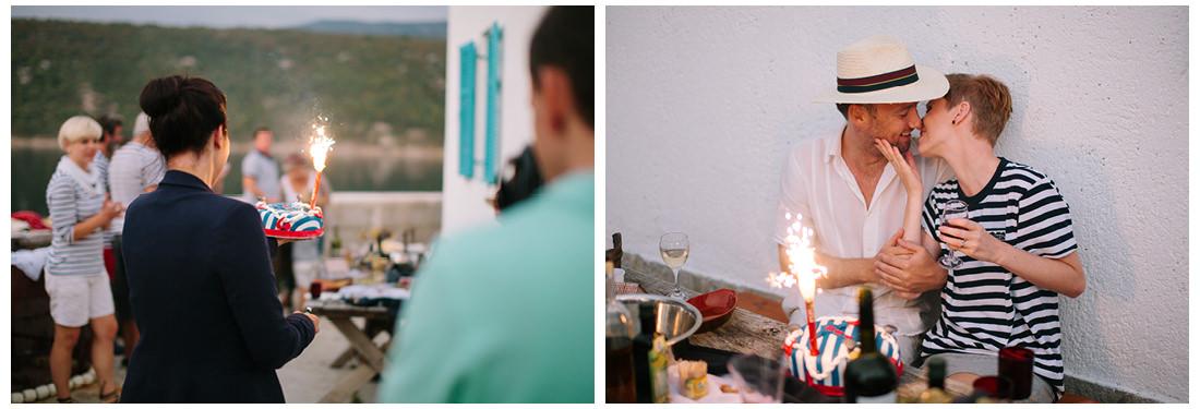 unique wedding cake on krk island wedding
