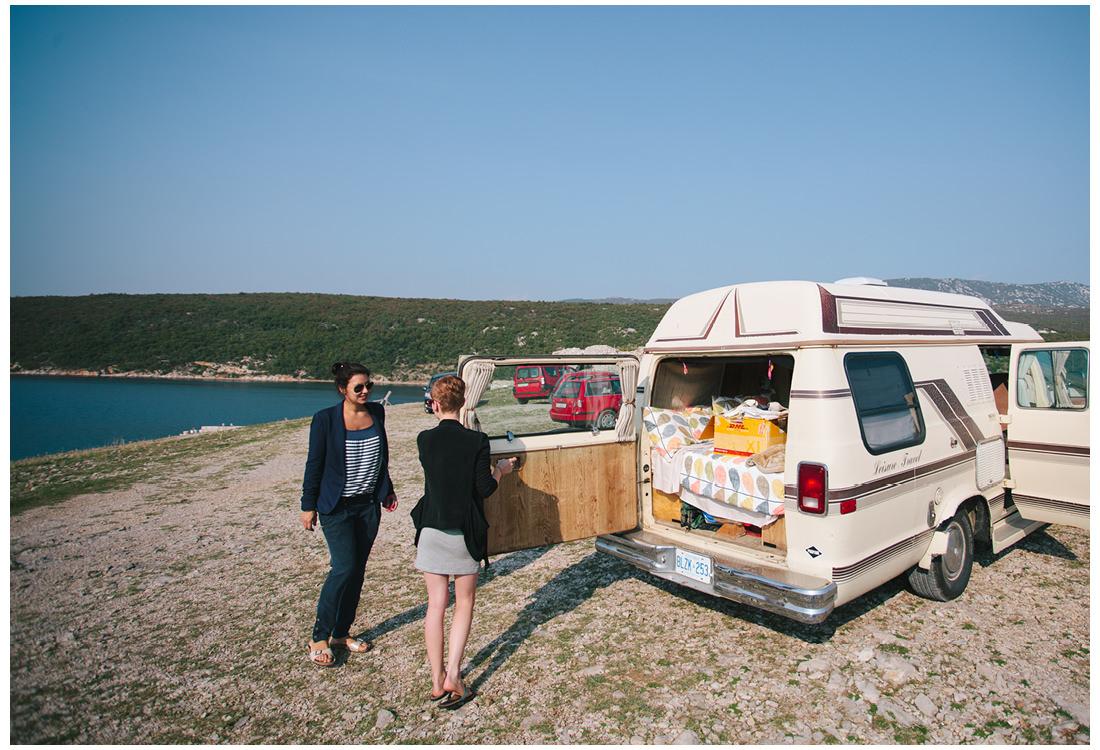 camper van on krk island