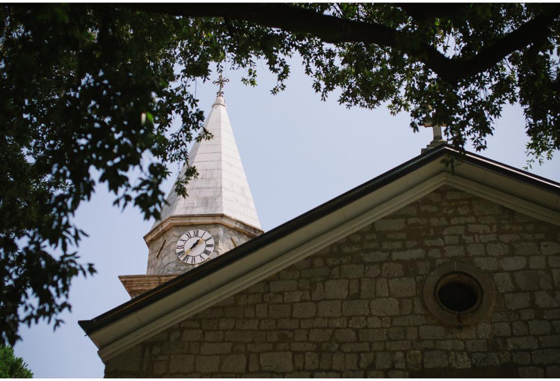opatija church tower with a clock