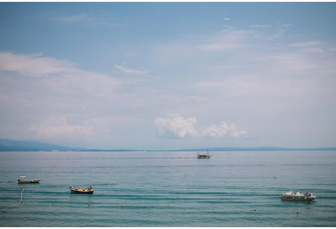 adriatic sea with a few boats