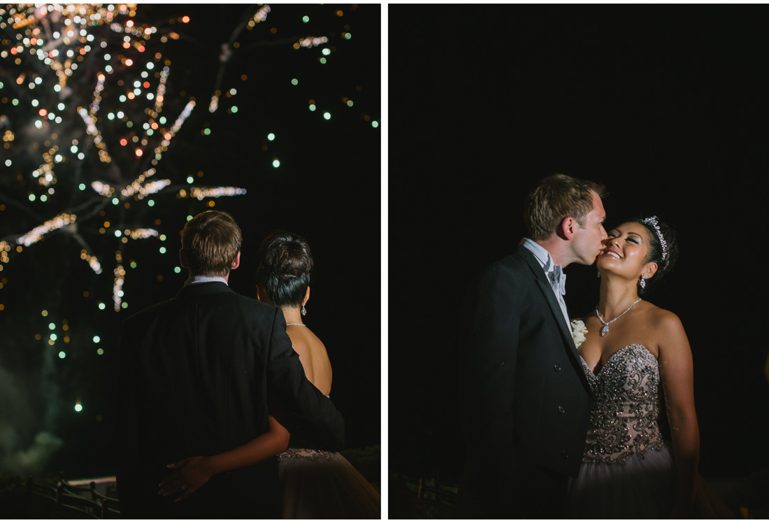 fireworks at a wedding