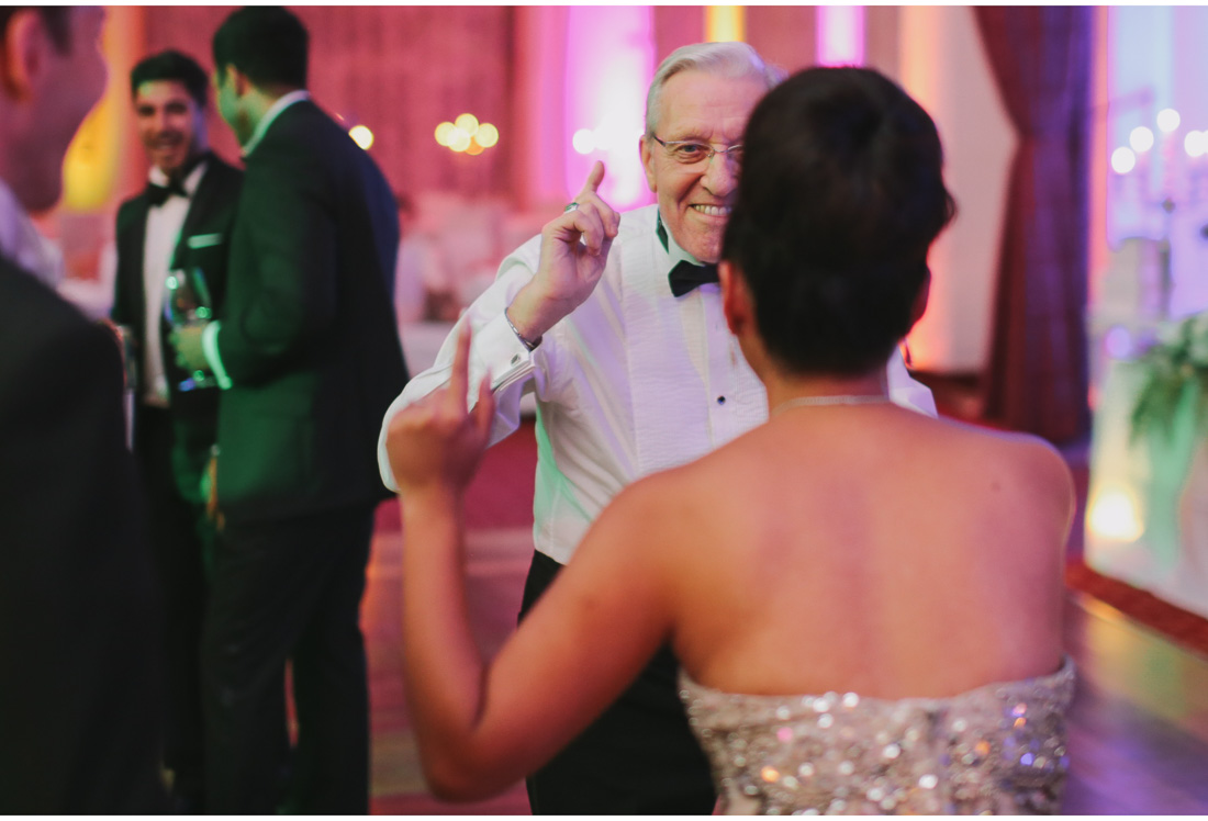 old man dancing at a wedding