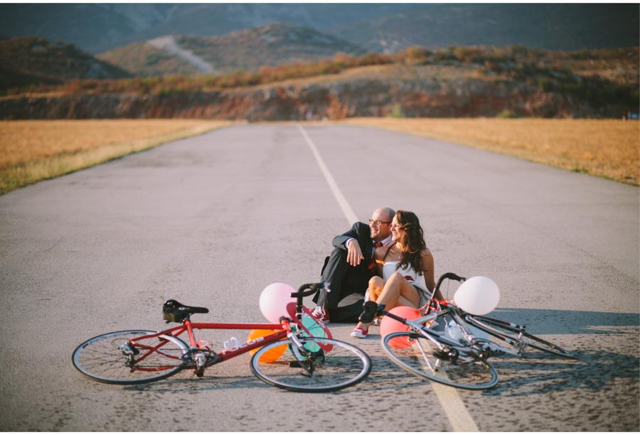 cycling bride in fotograf vjencanja rijeka