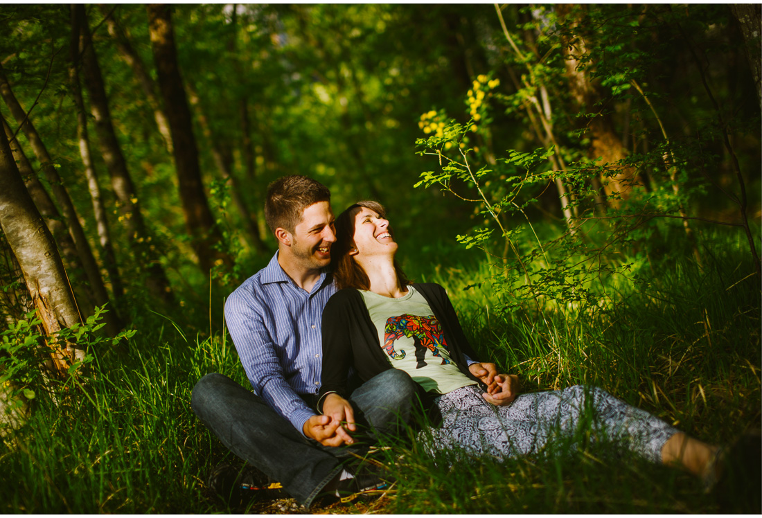 engagement session in the forest