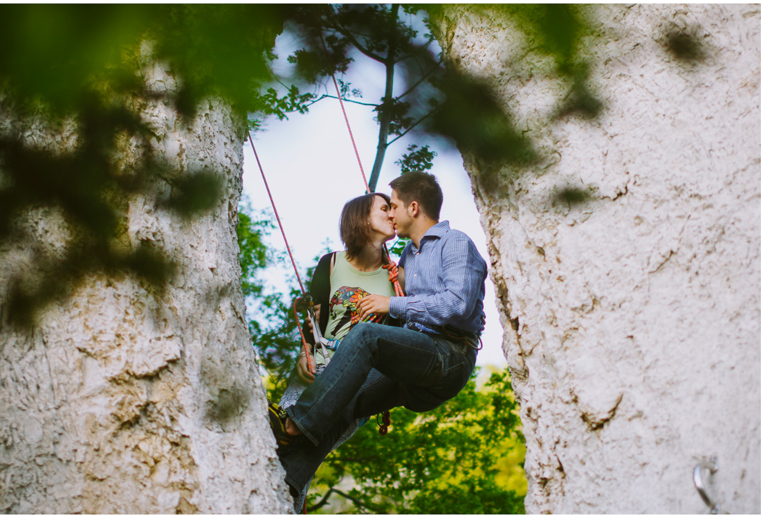 rock climbing kiss on ucka mountain croatia