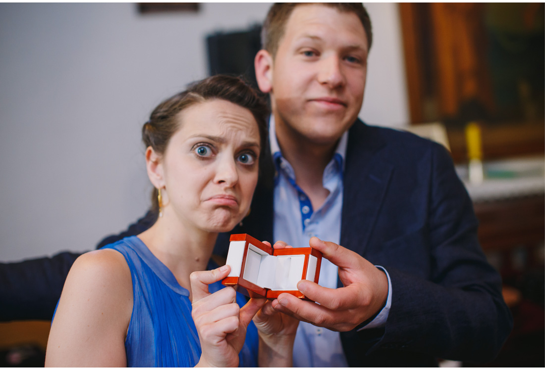 maid of honor and best man show empty ring box