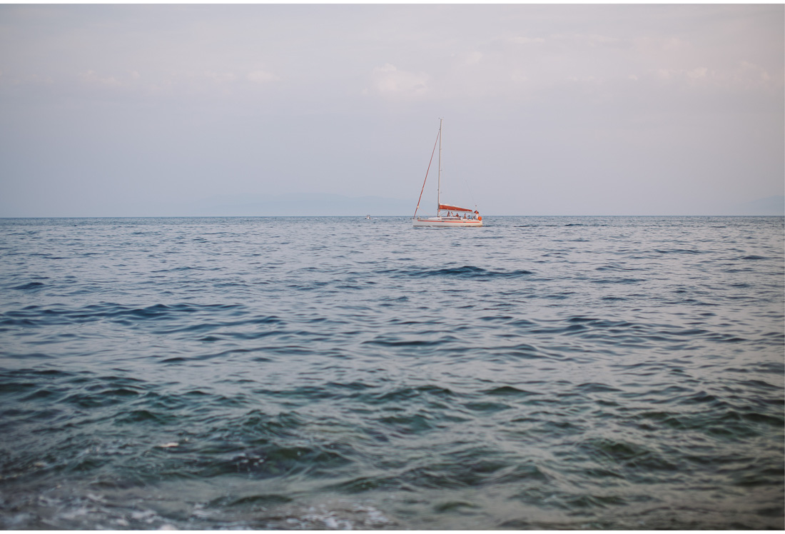 boat on the adriatic sea