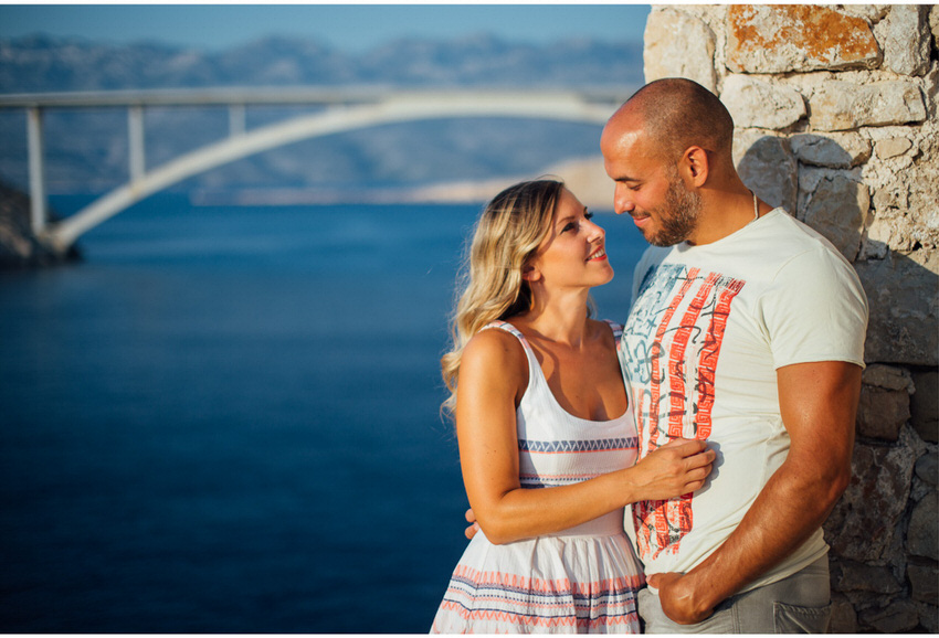 couple in love on pag island