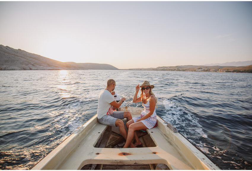 fun on pag island engagement
