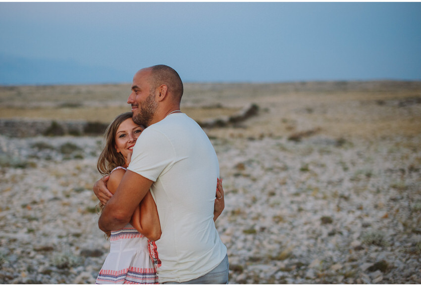 hug in the evening on pag