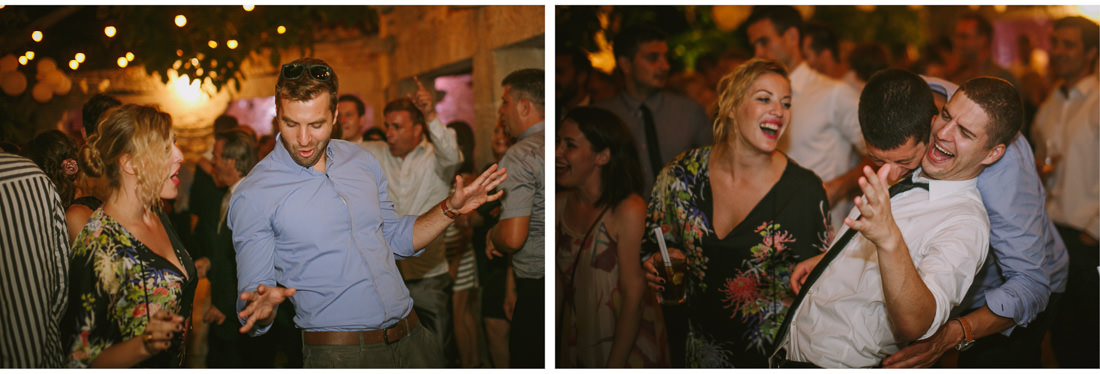 people dance at a wedding in paladnjaki venue