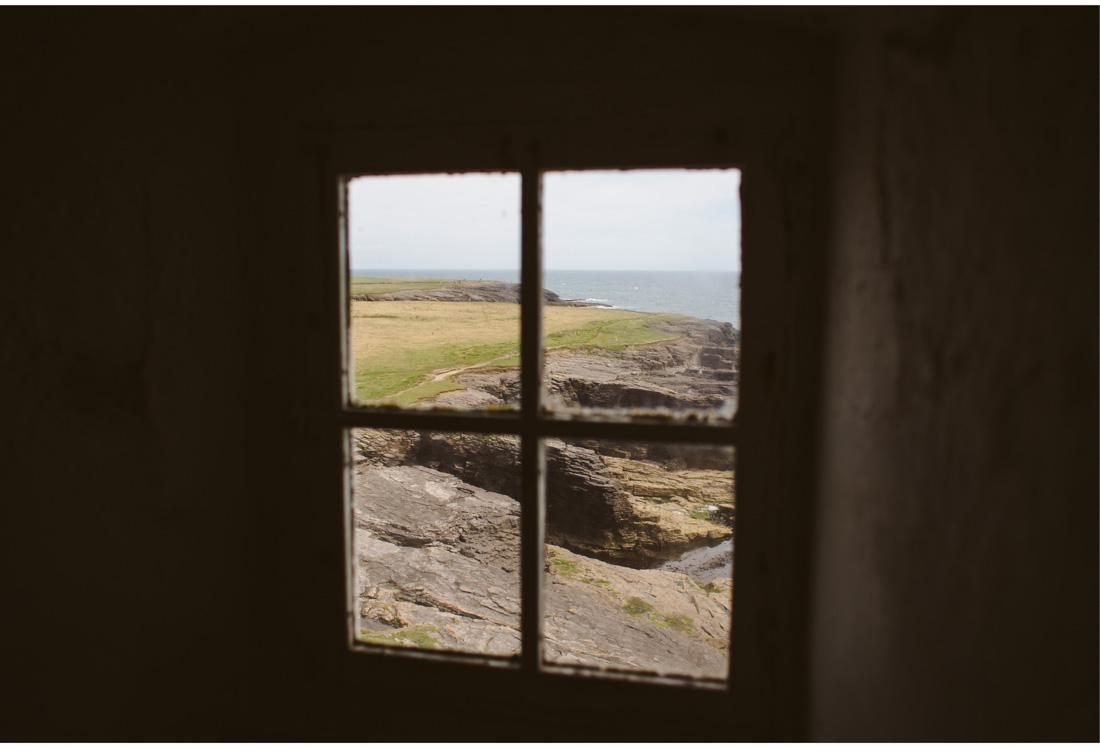 ireland beach through the window