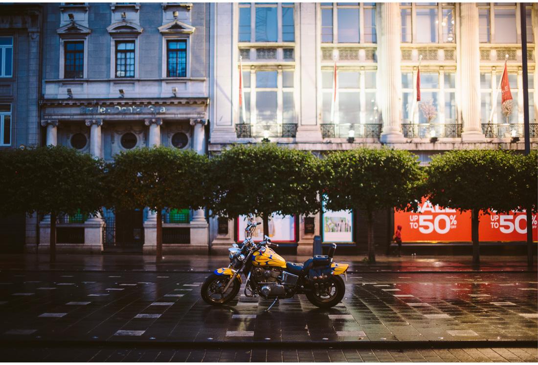 motorbike parked in dublin streets