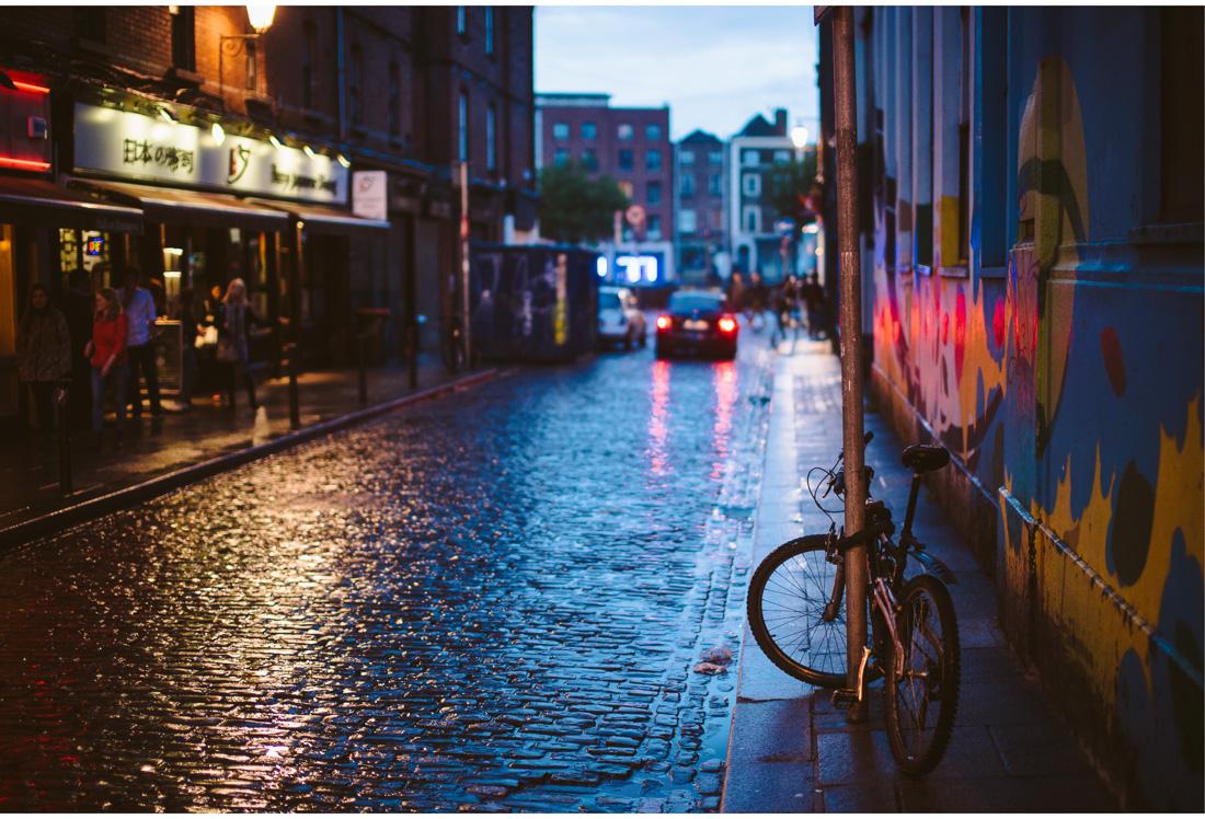 dublin street in the night