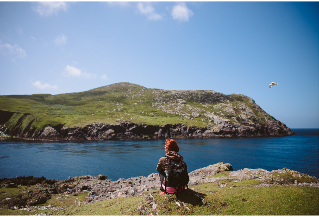 girl on bear peninsula