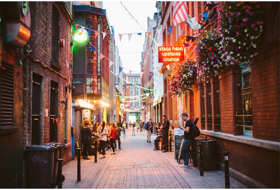 dublin in the evening