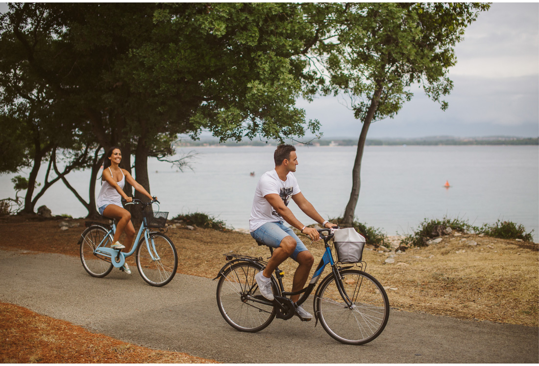romantic bike ride on brijuni islands
