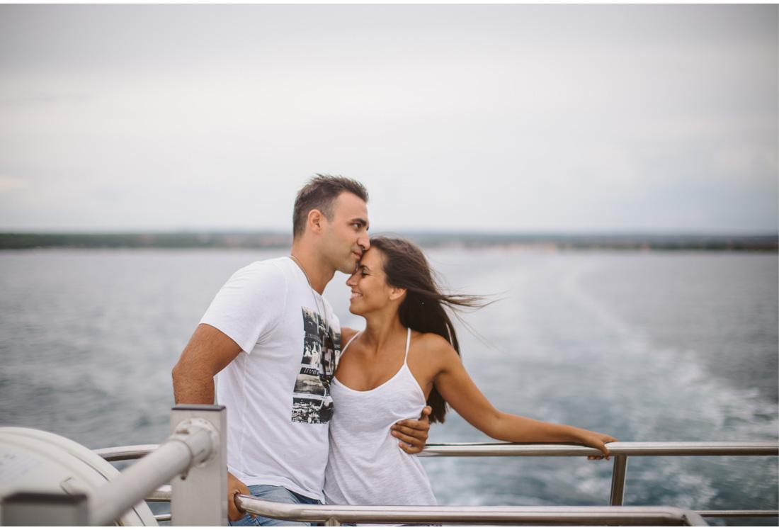 couple on a boat to brijuni