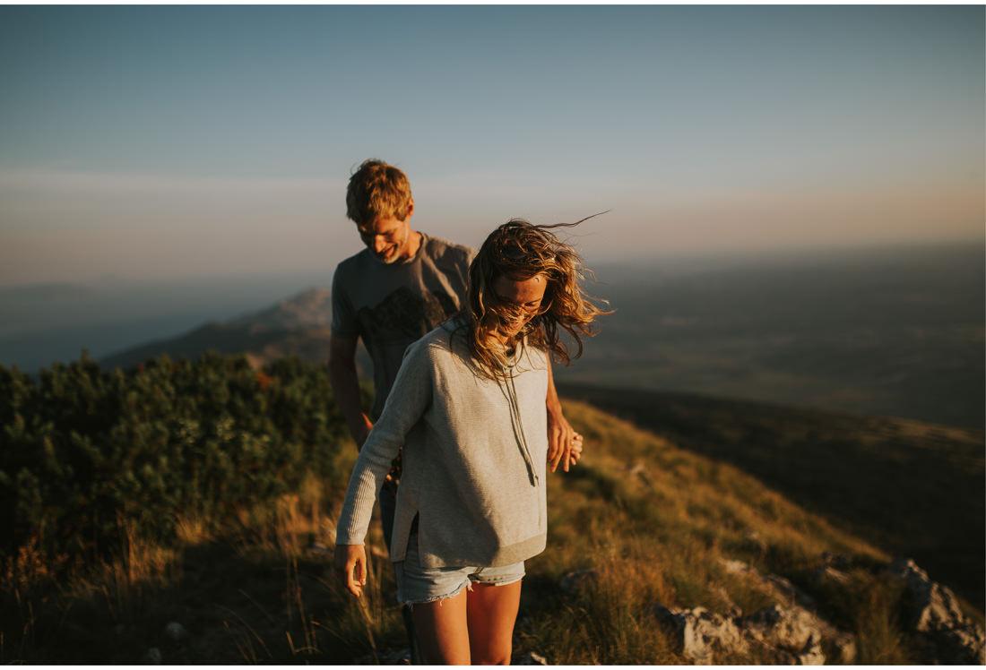 walking on a mountain