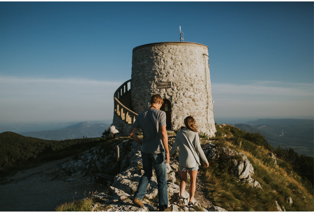 croatia mountain top engagement