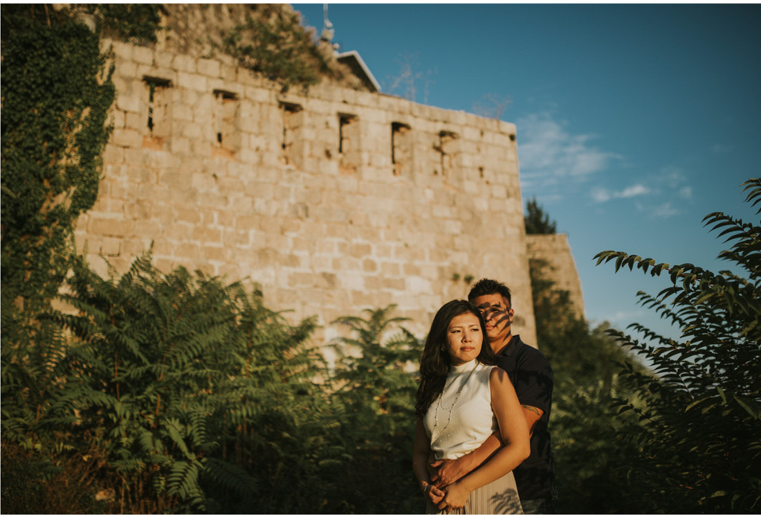 asian couple on Srd dubrovnik engagement photographer