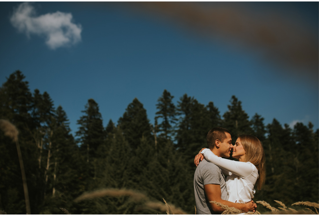 cute couple on risnjak engagement session