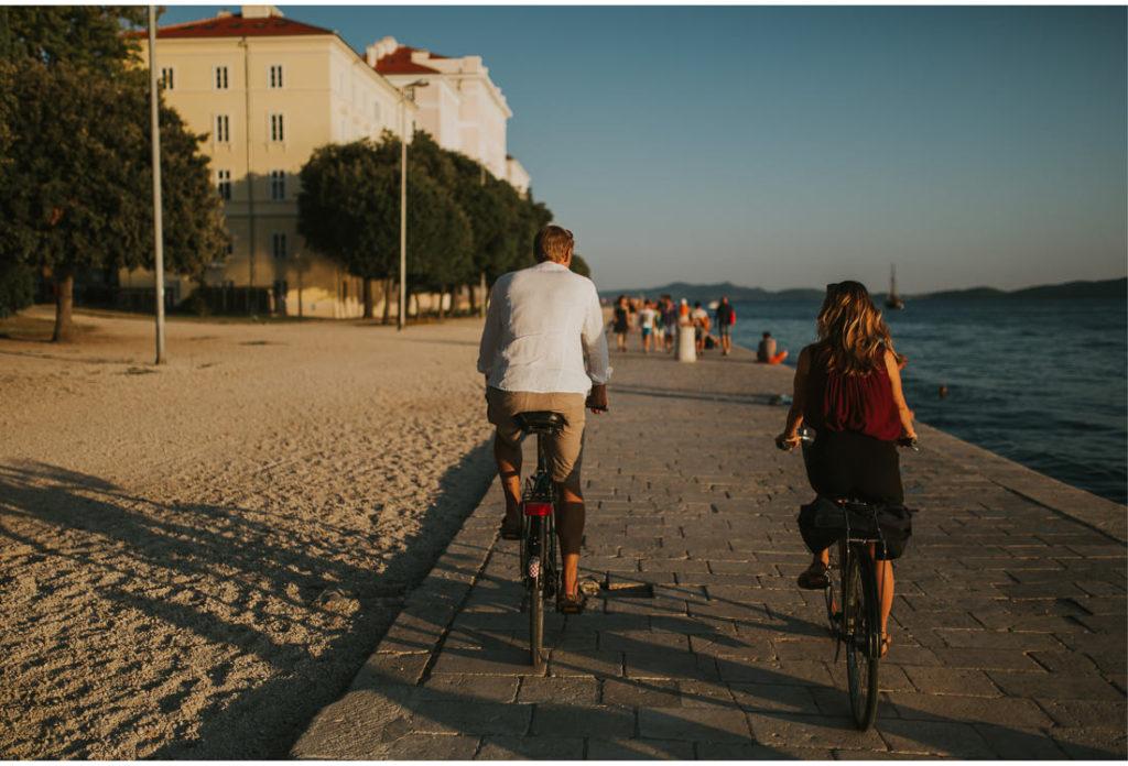 cycling in zadar city