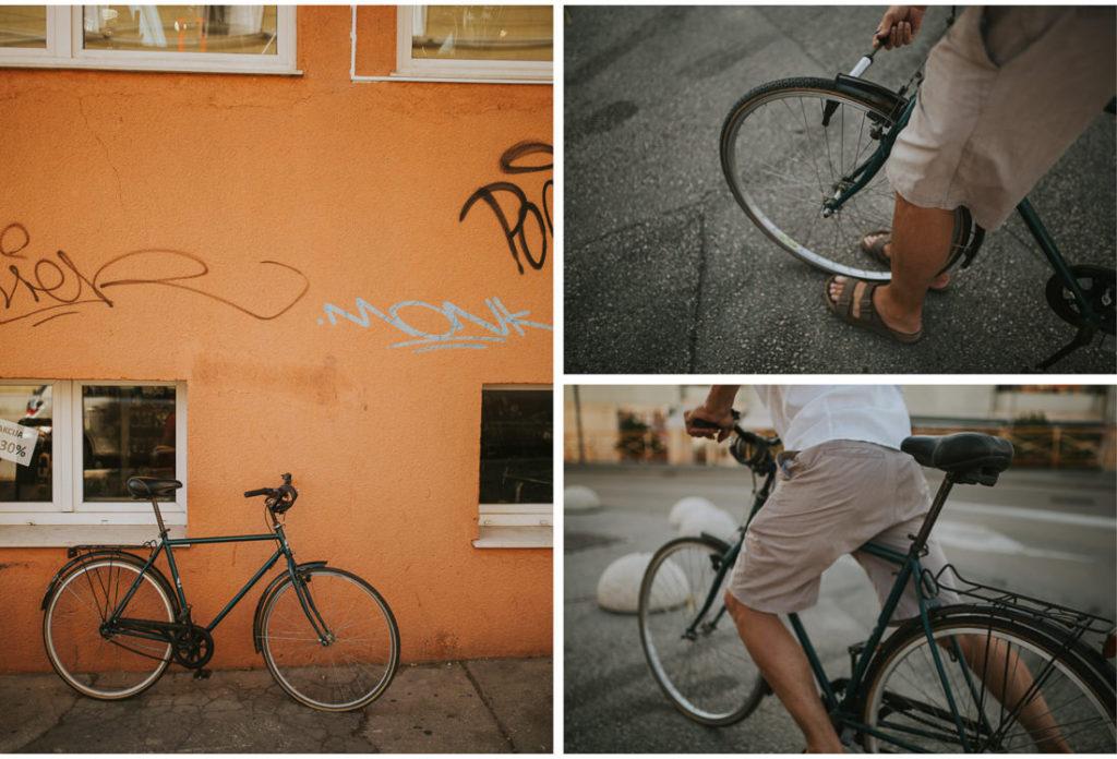 man on a bike in zadar