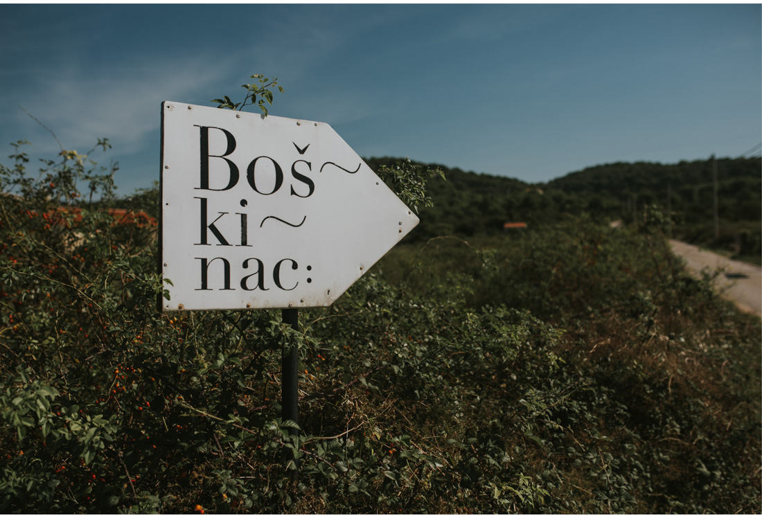 boskinac road sign