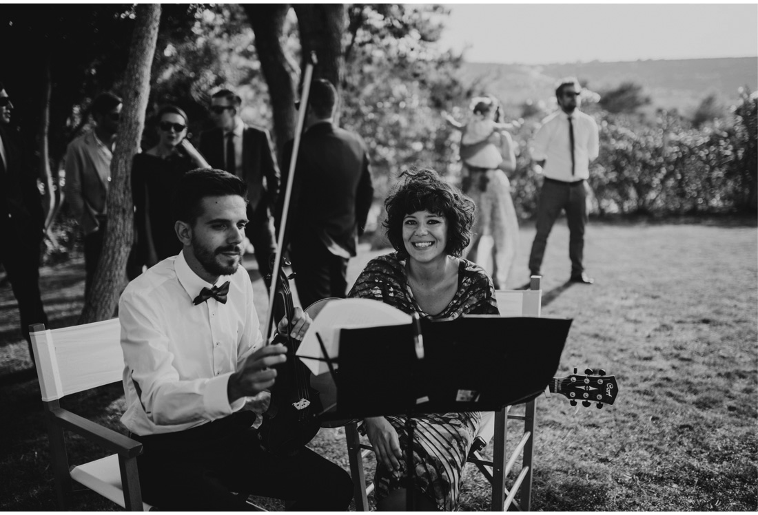 musicians at a wedding in boskinac