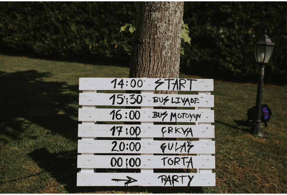 diy wedding schedule