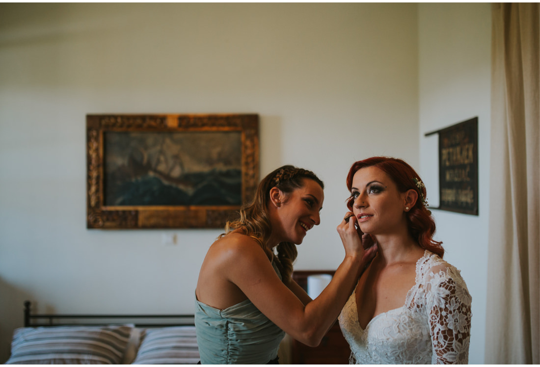 boho bride and maid of honor