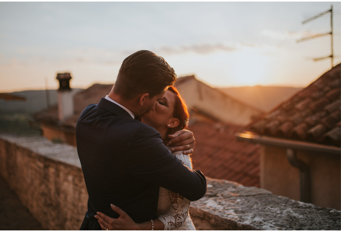 sunset kiss in motovun istria