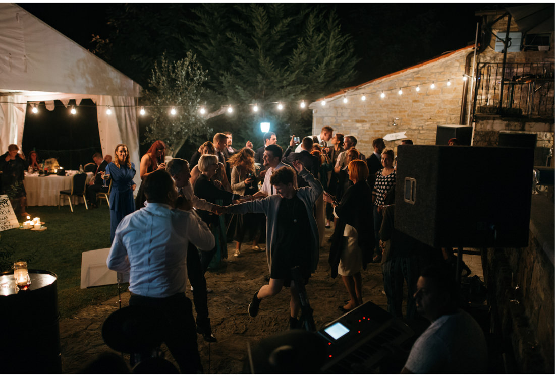 diy wedding dance party