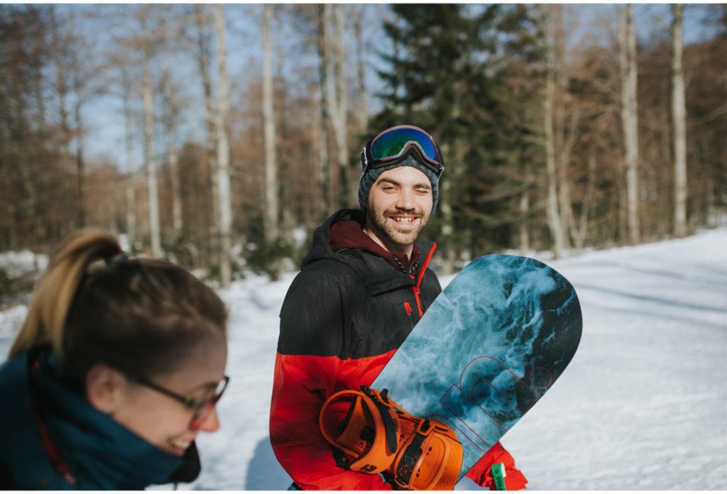 man cary snowboard