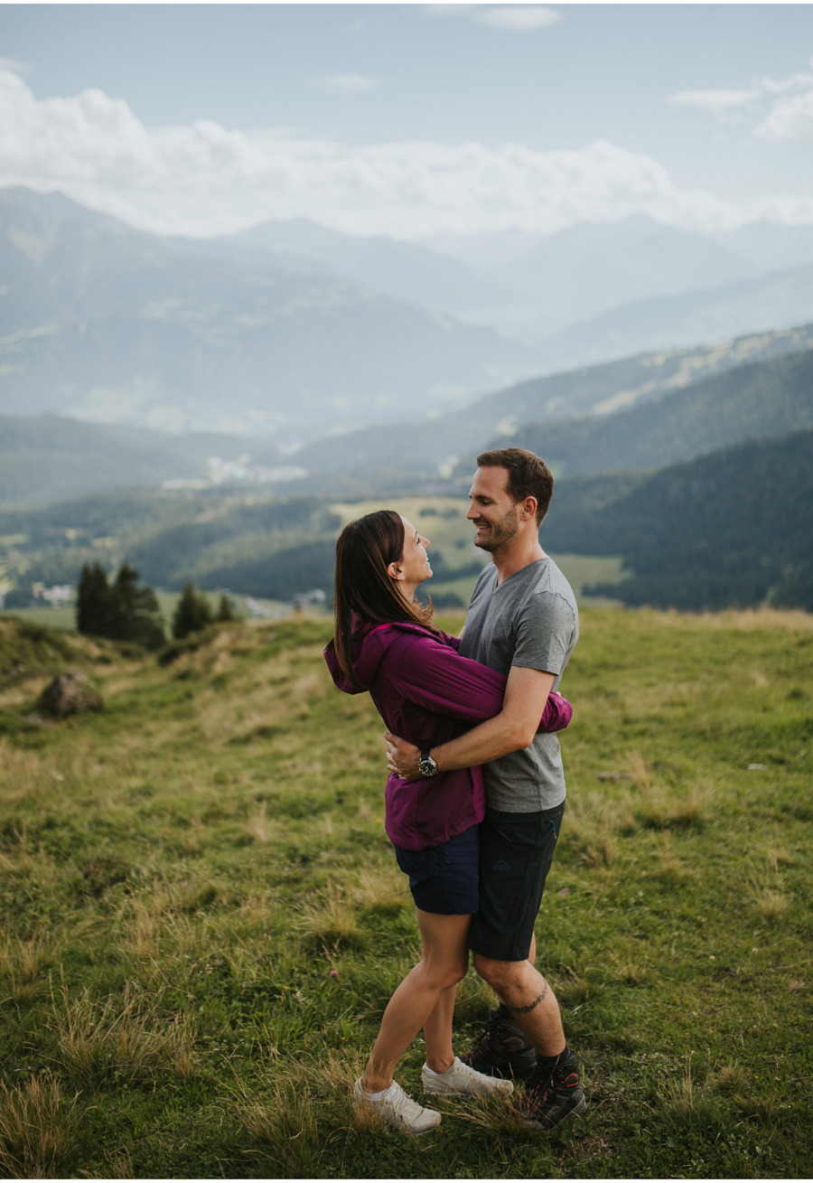 couple in swiss alps