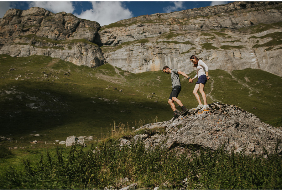 swiss alps engagement photographer