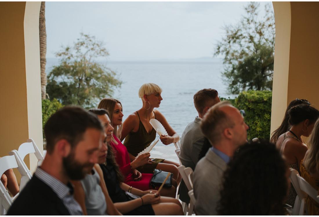 lady guest at a wedding in villa dalmacija split