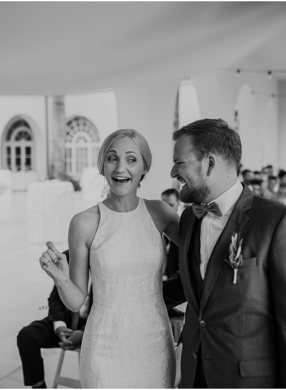 happy cute bride at villa dalmacija wedding