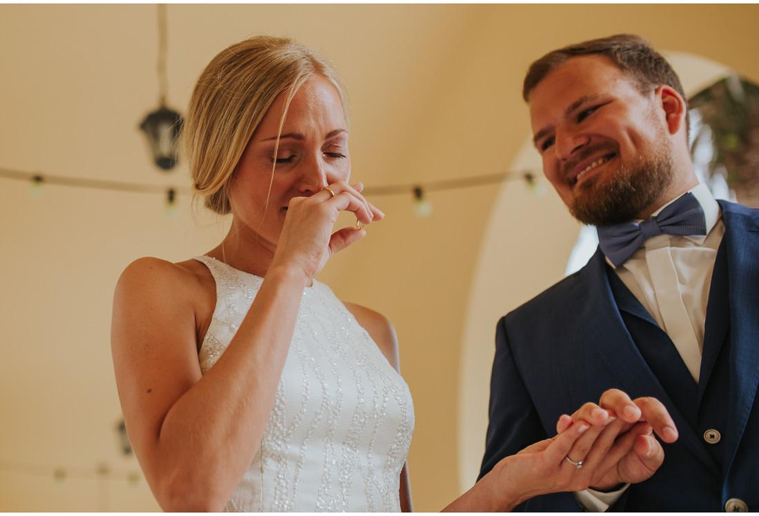 crying bride at villa dalmacija wedding