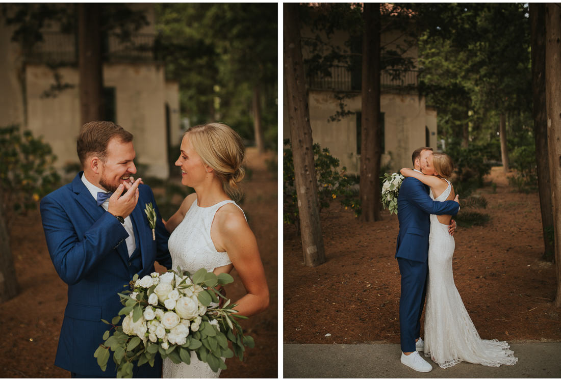 bride and groom at villa dalmacija wedding